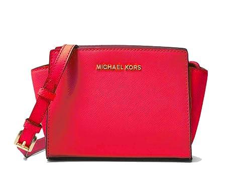 39906235d778 MICHAEL Michael Kors Selma Mini Saffiano Leather Crossbody Messenger Bag  (Deep Pink)
