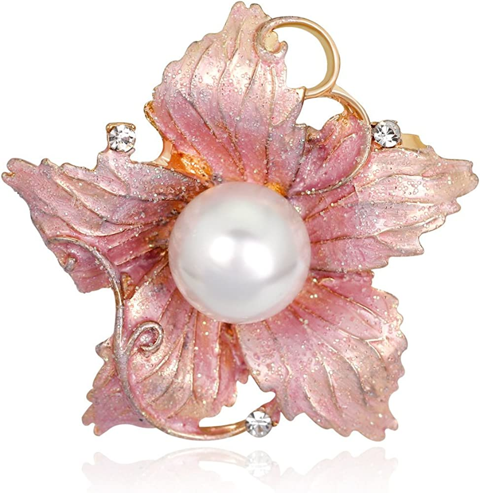 YYOGG Luxurious Flowers Brooch Alloy Pearl Accessories pin Accessories Brooch