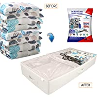 New Storage Space Bag/Luxurious Storage Box Tote with Reusable Vacuum Space Saver Bags. Organizing System that Protects…
