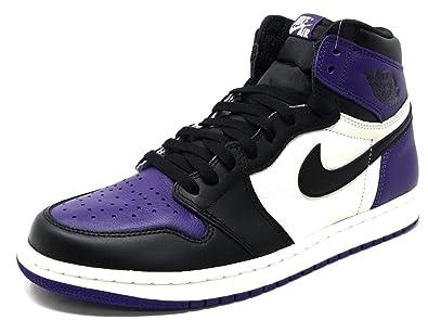 save off cabb5 26d60 Jordan Men s Air 1 Retro High OG, Court Purple SAIL-Black, 18