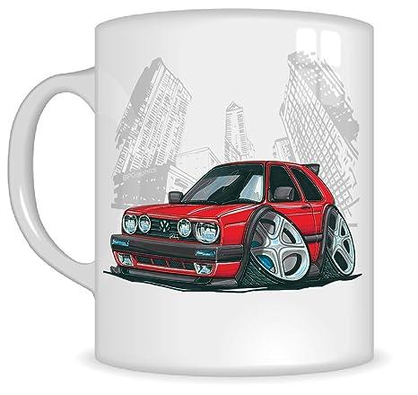 Regalos de Koolart k141-mg dibujos animados de Volkswagen Golf MKII – Caricatura Rojo para