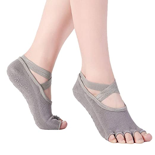 FlYHIGH Calcetines Mujer No Show Low Cut Yoga Zapatillas ...
