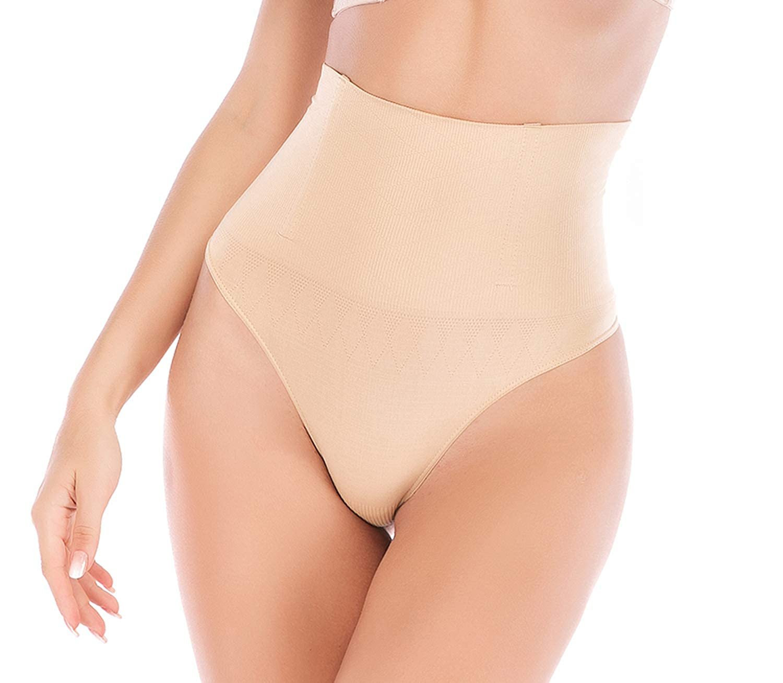 bbf8a8f44f2 FIRSTLIKE Women Waist Cincher Girdle Tummy Slimming Briefs Sexy Thong Panty  Butt Lifter Shapewear at Amazon Women s Clothing store