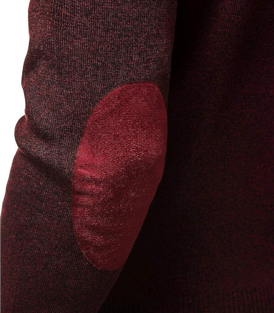 c8c108ced873 MonsieurMode - Pull avec coudières Homme Pull M128 Rouge Bordeaux - Rouge   Amazon.fr  Vêtements et accessoires
