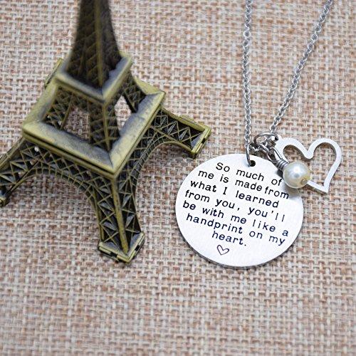 O.RIYA Graduation Gift, Teacher Necklace,Christmas Gifts for Teacher, Gift from Student, Teacher Gift, Personalized Teacher Jewelry by O.RIYA (Image #1)