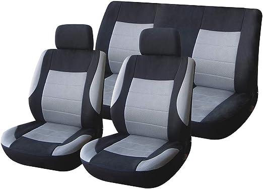 Tissu Sitzbezüge surface d/'assise Sitzmatte Siège Auto Housses Noir convient pour SEAT.