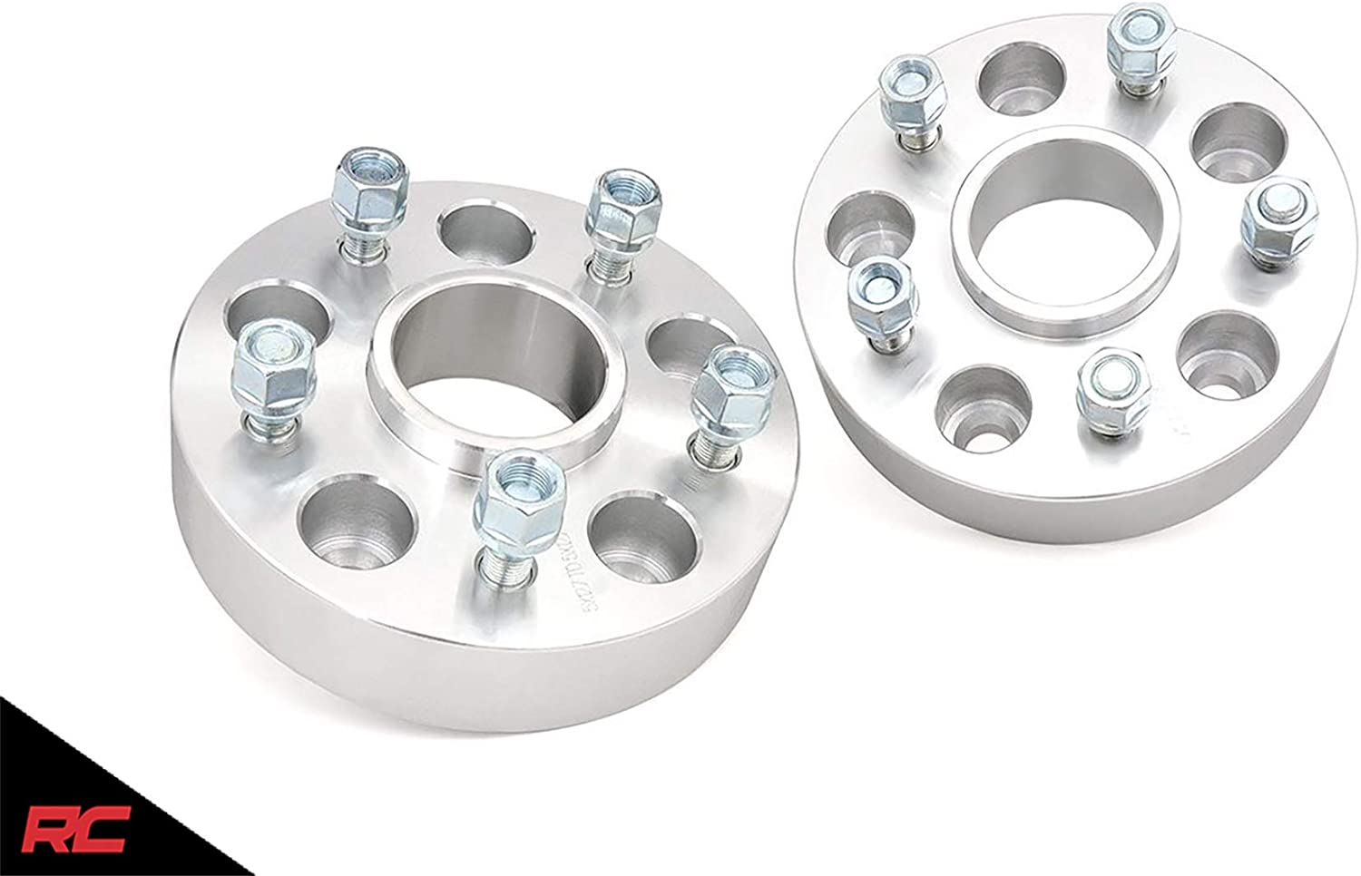 Rough Country 10085 2 Wheel Spacers | Pair | fits Gladiator JT Aluminum 5x5 2018-2020 Jeep Wrangler JL