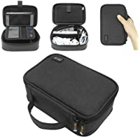 Sisma Cables Organiser Universal Bag Electronics Accessories Travel Organiser Carrying Case for Phone Chargers Earphones Power Bank Adapters Memory Cards USB Sticks -Black SCB17092B-B