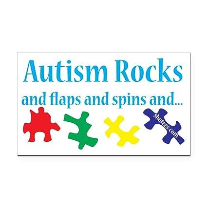 Cafepress autism rocks rectangle car magnet rectangle car magnet magnetic bumper sticker