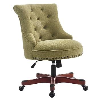 diy wood office chair mat white wooden desk chairs wheels floor mats green dark walnut base