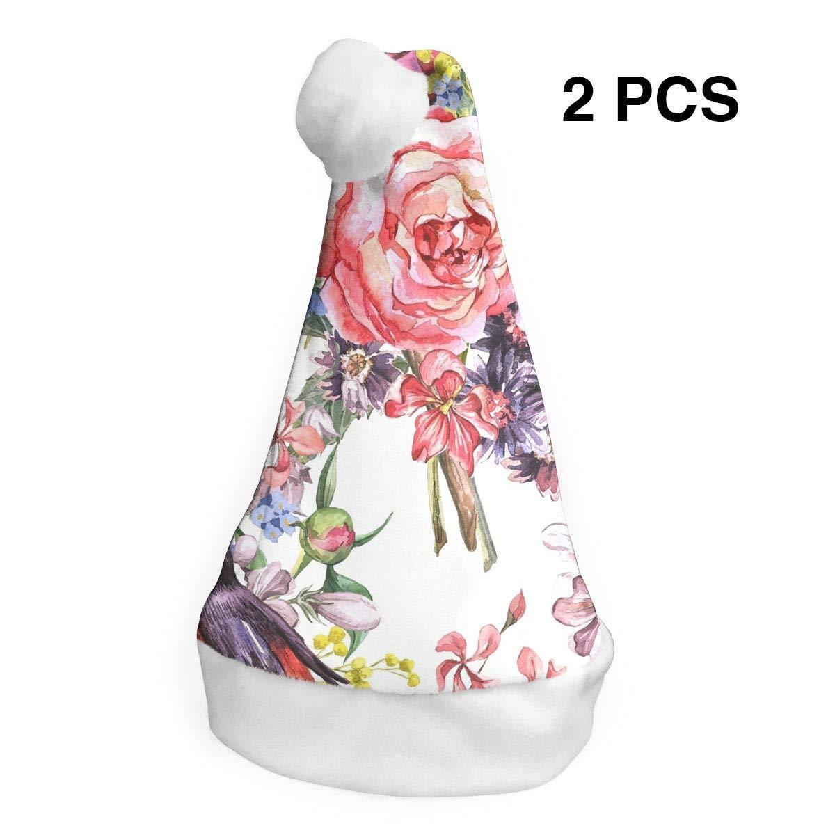 Santa Claus - Sombrero de Navidad con diseño de flores, color rosa ...