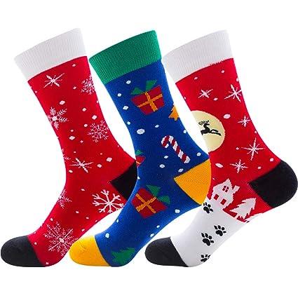 LLFFDC 3 Pares De Calcetines De Navidad Festivos para Hombre O Mujer