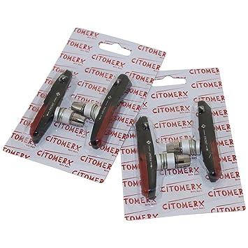 CMX 2 Paar Bremsgummis Bremsschuhe 72mm V-Bremse für Shimano XTR Deore XT neu