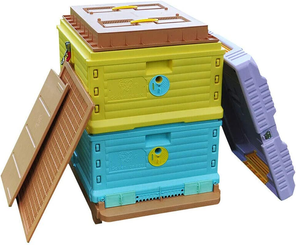 Thermo Beehive Plastic Insulated Bee Hive Set Thermo Beehive Box bee House [No Frames Included]