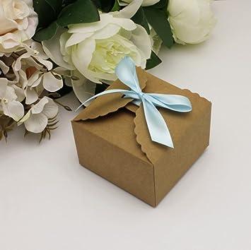 Cajas de regalo, juego de 50 cajas decorativas para dulces, tartas, galletas ,