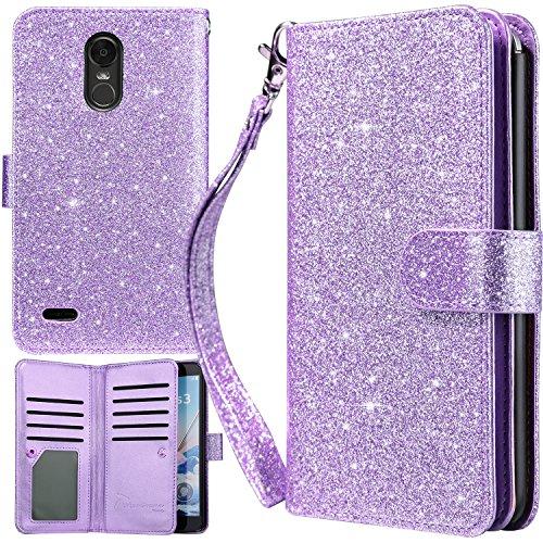 LG Stylo 3, LG Stylo 3 Plus Wallet Case, UrbanDrama Glitter Shiny PU  Leather Magnetic Closure Credit Card Slot Cash Holder Protective Wallet  Case for