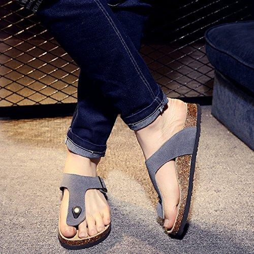 Fankou Männer Sind im Sommer Sommer Sommer Kühl und Student Lounge Hausschuhe Frauen Paare Beach Schuhe für Frauen H 37 Grau b33c0d