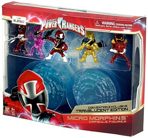 Power Rangers Micro Morphins Convention Exclusive Translucent Edition Capsule Figures 1 of ()