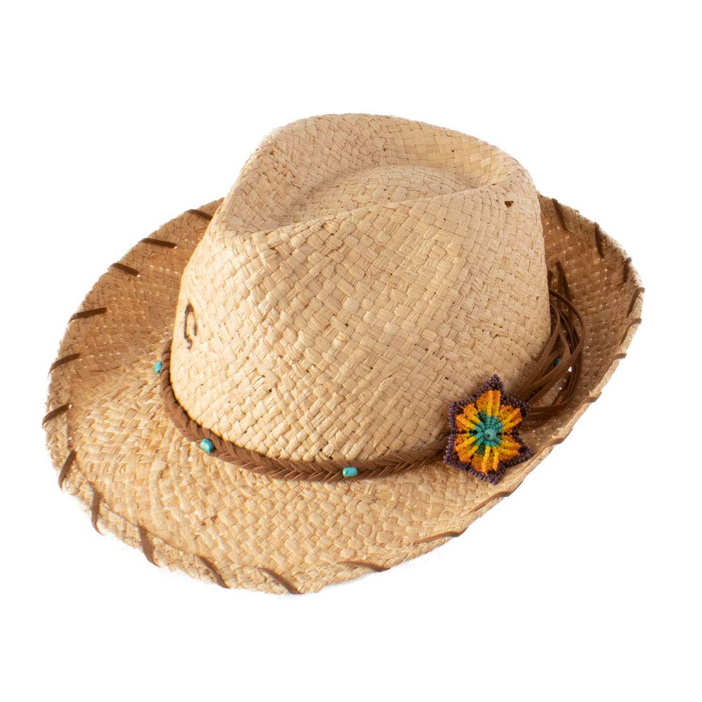 Charlie 1 Horse CSSNKS-342481 Sun Kissed Straw Fedora in Natural (Medium)