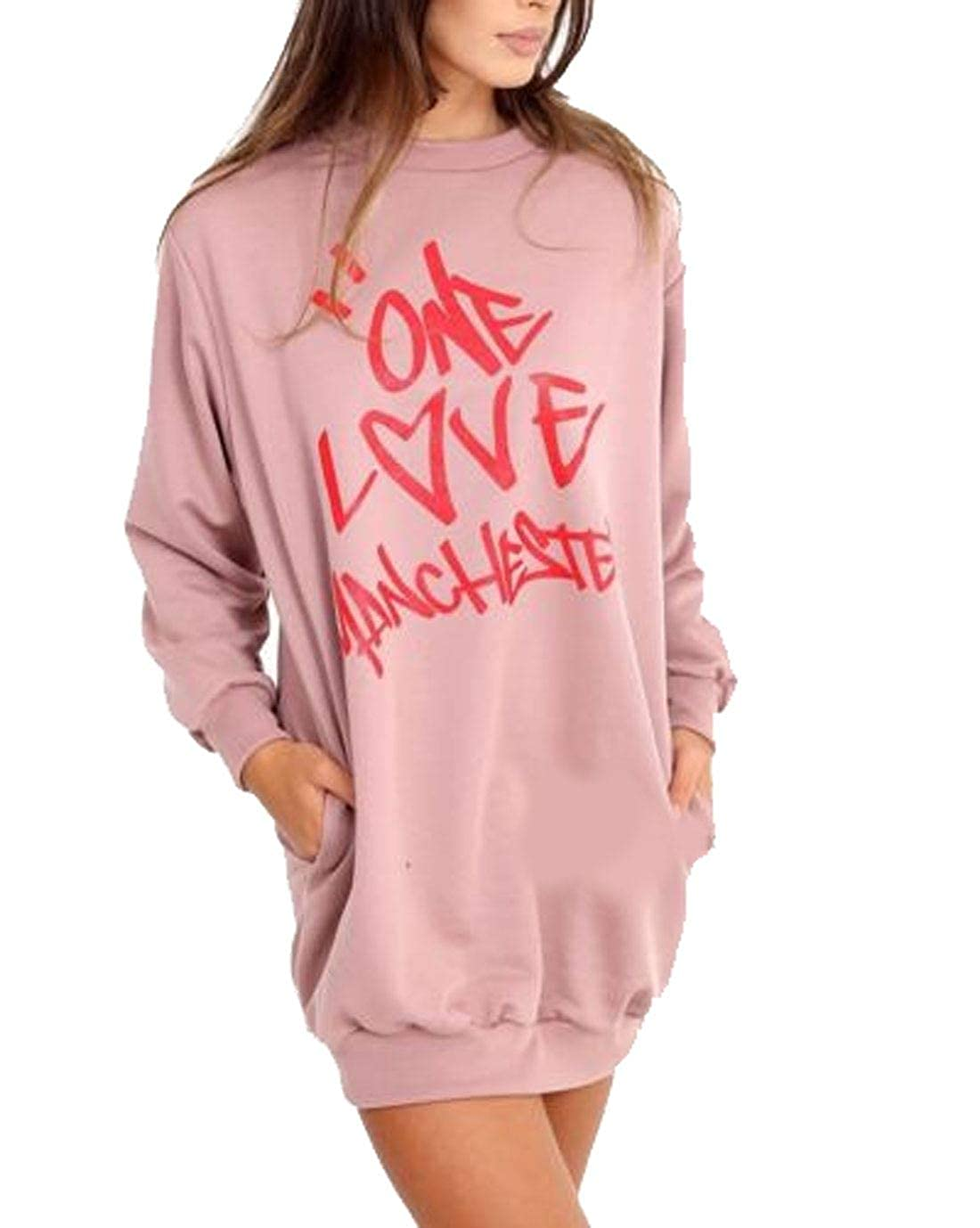 One Love Manchester Print Sweatshirt Womens Long Sleeve Celebrity Shirt Top