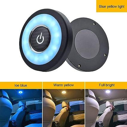 Luz LED inal/ámbrica t/áctil Yanten Luz Interior del Maletero de c/úpula de Lectura Interior del autom/óvil Blanco c/álido