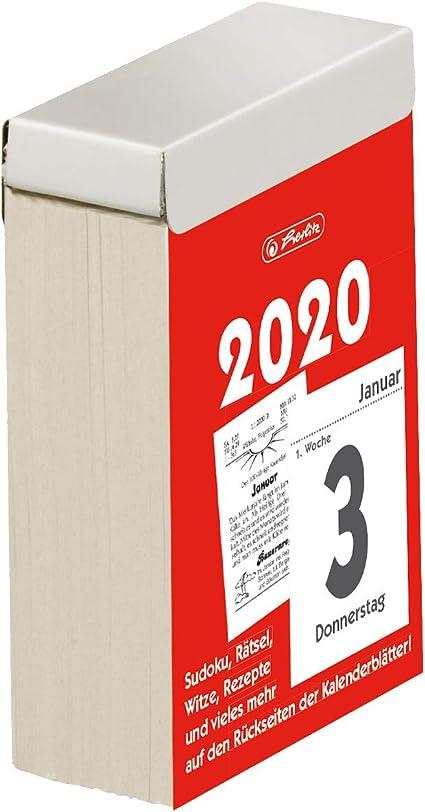 1 pezzo 5 x 8 cm 2020 misura 3 Calendario a strappo