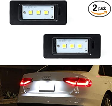 Audi A1 A4 A5 LED White Number Licence Plate Light Canbus Error Free Replacement