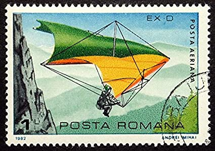 Amazon com: Hang glider, Sports -Handmade Framed Postage