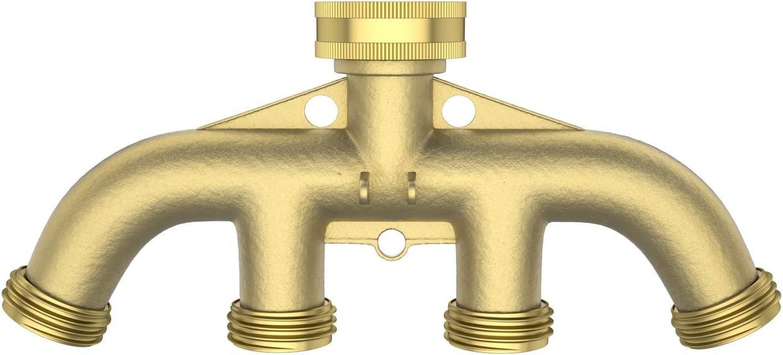 4 Way Brass Tap Adaptor Manifold Hose Splitter Tap Adaptors Hose End Fittings