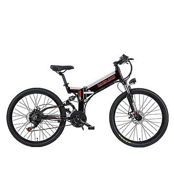 GTYW, Bicicleta Eléctrica Plegable, Bicicleta De Montaña ...