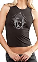 Yoga Clothing For You Ladies Iconic Buddha Cropped Tank Top