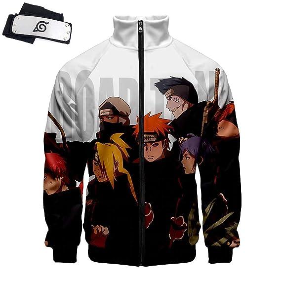 Amazon.com: GideonH Naruto Anime Akatsuki - Chaqueta de ...