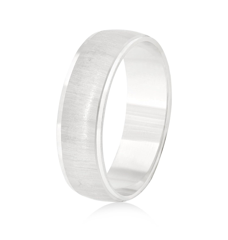 26 Jewels 14K White Gold 6mm Design Wedding Band