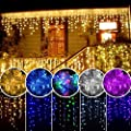 Lainin 3.5M/11ft 96 LED Linkable Fairy Curtain String Light with 8 Modes Control for Indoor/Outdoor/Patio/Wedding/Christmas Party Holiday Decoration
