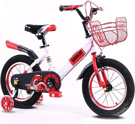 LEZI Niños Bicicleta niña y niño, Color Antideslizante Pedal y ...