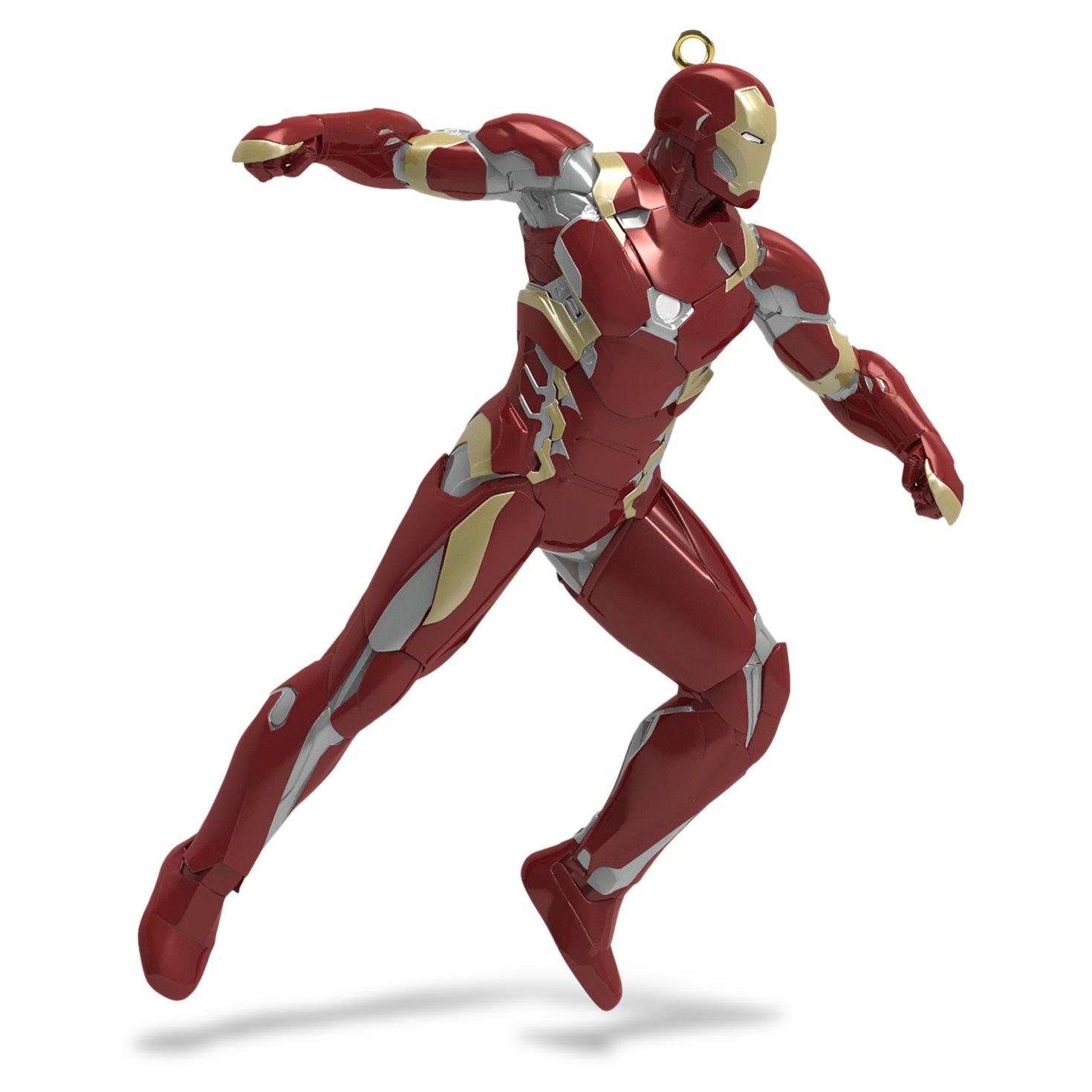 Hallmark Keepsake Captain America Civil War Christmas  ''Team Iron Man'' Holiday Ornament