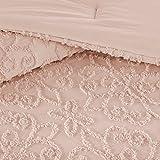 Madison Park Sabrina Comforter Set Full/Queen Size - Pink, Medallion – 4 Piece Bed Sets – 100% Cotton Teen Bedding for Girls Bedroom