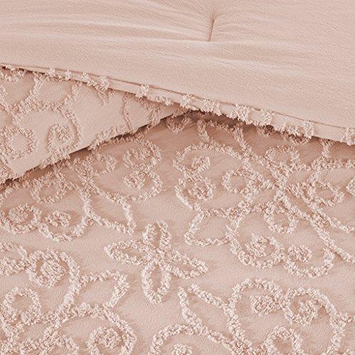 (Madison Park Sabrina Comforter Set Full/Queen Size - Pink, Medallion - 4 Piece Bed Sets - 100% Cotton Teen Bedding for Girls Bedroom)