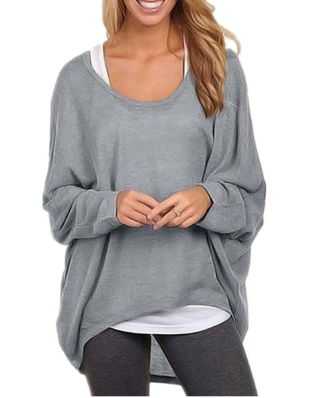Minetom Mujer Otoño Primavera Suéter Loose Pullover Jerseys Manga Larga Camiseta Tapas Blusa: Amazon.es: Ropa y accesorios