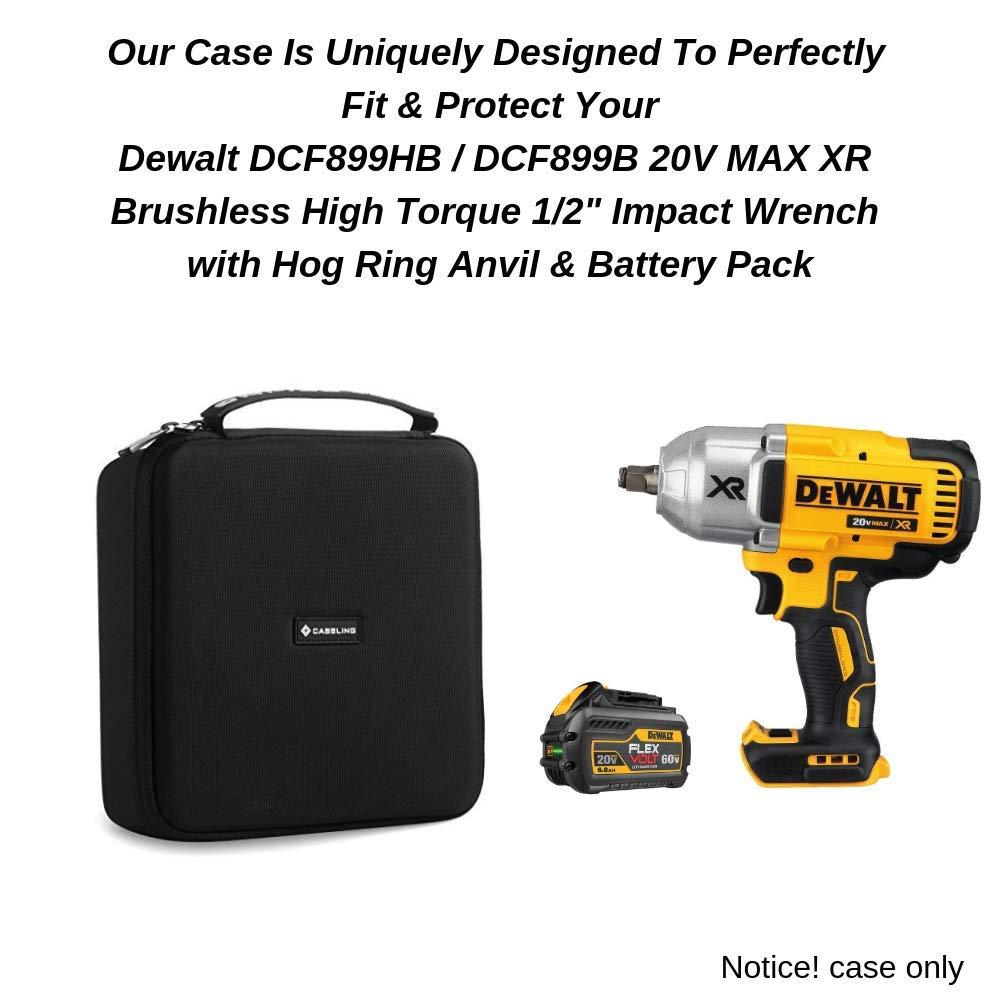 Caseling Hard Case Fits Dewalt DCF899HB / DCF899B 20V MAX XR Brushless High Torque 1/2'' Impact Wrench with Hog Ring Anvil & Battery Pack by caseling (Image #3)