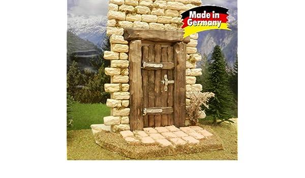 Puerta de madera real madera oscuro, tallada a mano con estaño ...
