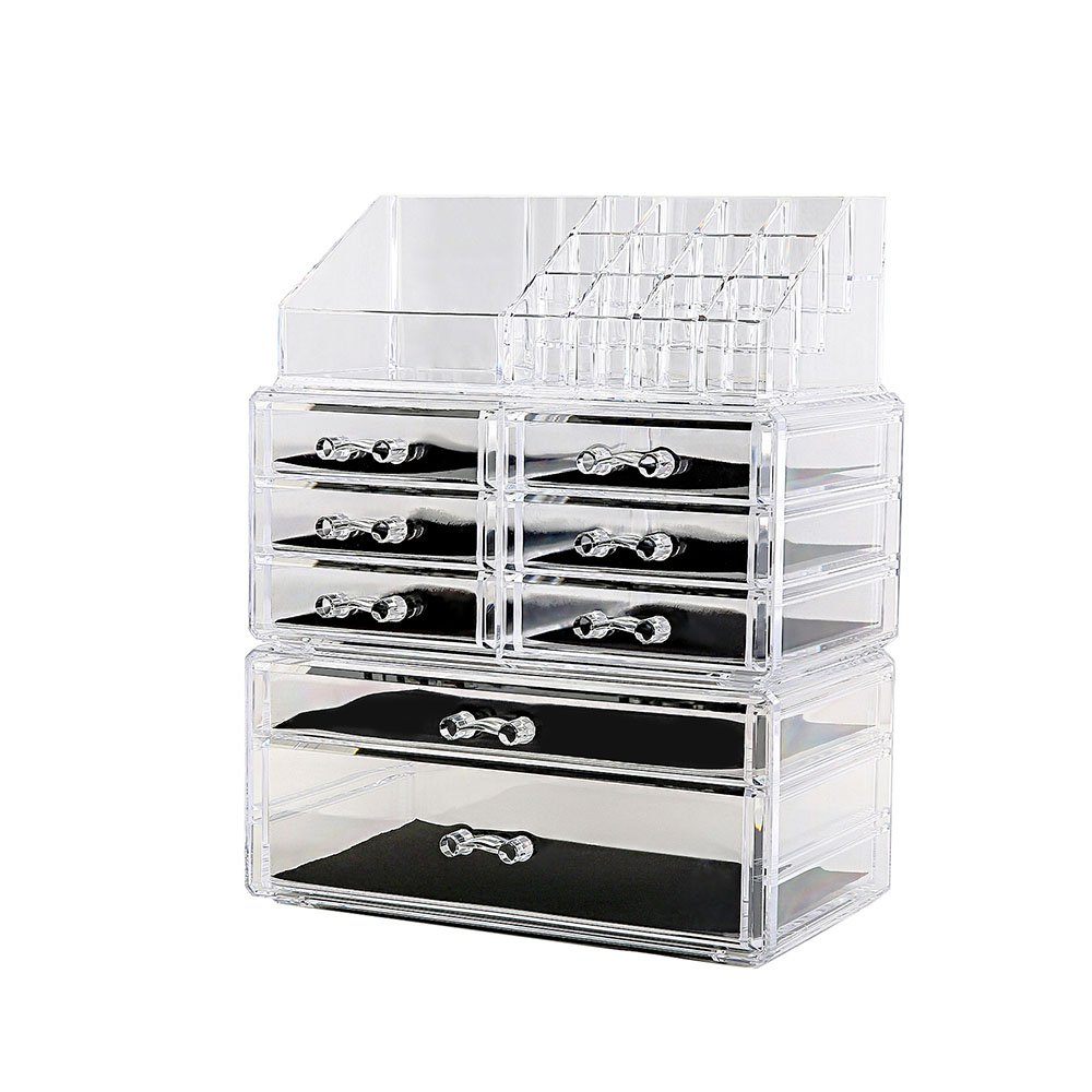 DreamGenius Acrylic 3 Piece Makeup Organizer