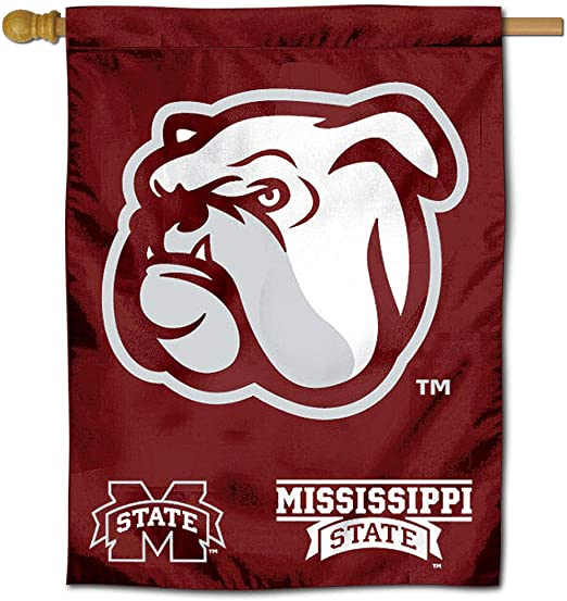 6 x 24 NCAA Mississippi State Bulldogs Unisex Mississippi State University Heritage Banner Vertical 6x24 Team