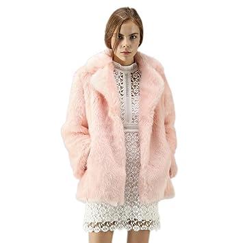 Sonnena - Abrigo de piel sintética para mujer, cálido, para invierno, color rosa, tamaño XXXL: Amazon.es: Instrumentos musicales
