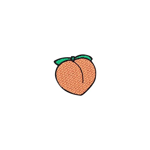 9e19569d9de Image Unavailable. Image not available for. Color  Peach Patch Iron On  Badge Gift Tumblr Cute Kawaii Fun Fruit Peachy