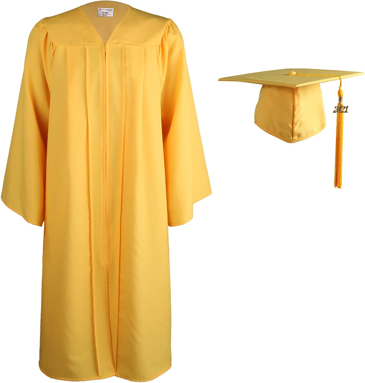 OSBO GradSeason Matte Graduation Gown Cap Tassel Set 2021 for High School and Bachelor…