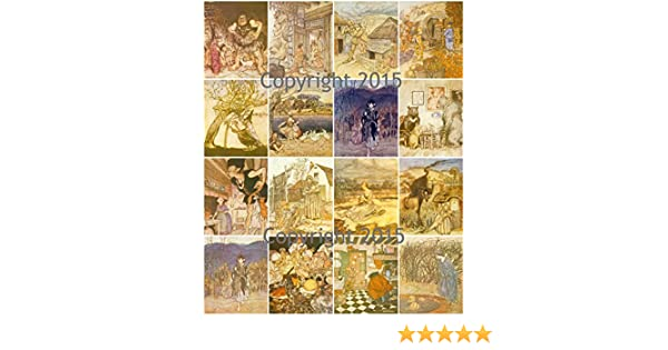 Labels Decoupage Scrapbooking Vintage Printed Collage Sheet English Fairy Tales #101 by Arthur Rackham