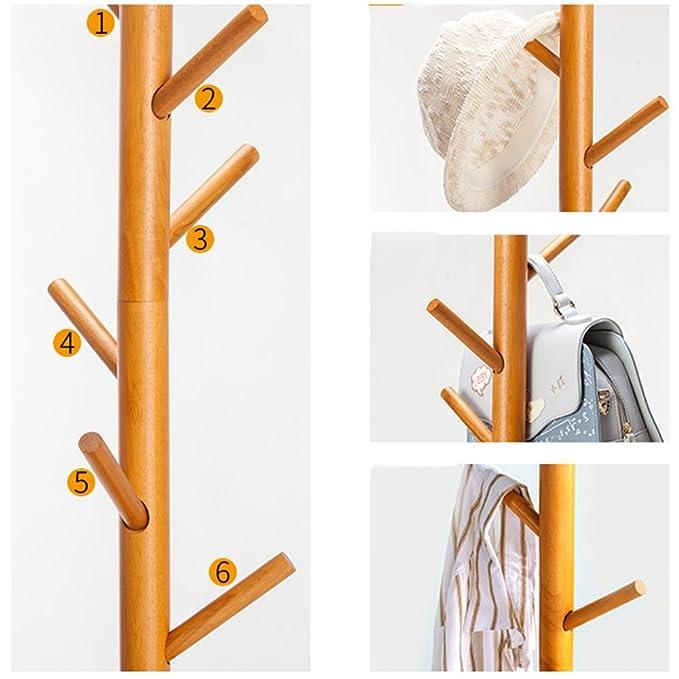 Amazon.com: Perchas de madera maciza con base redonda para ...