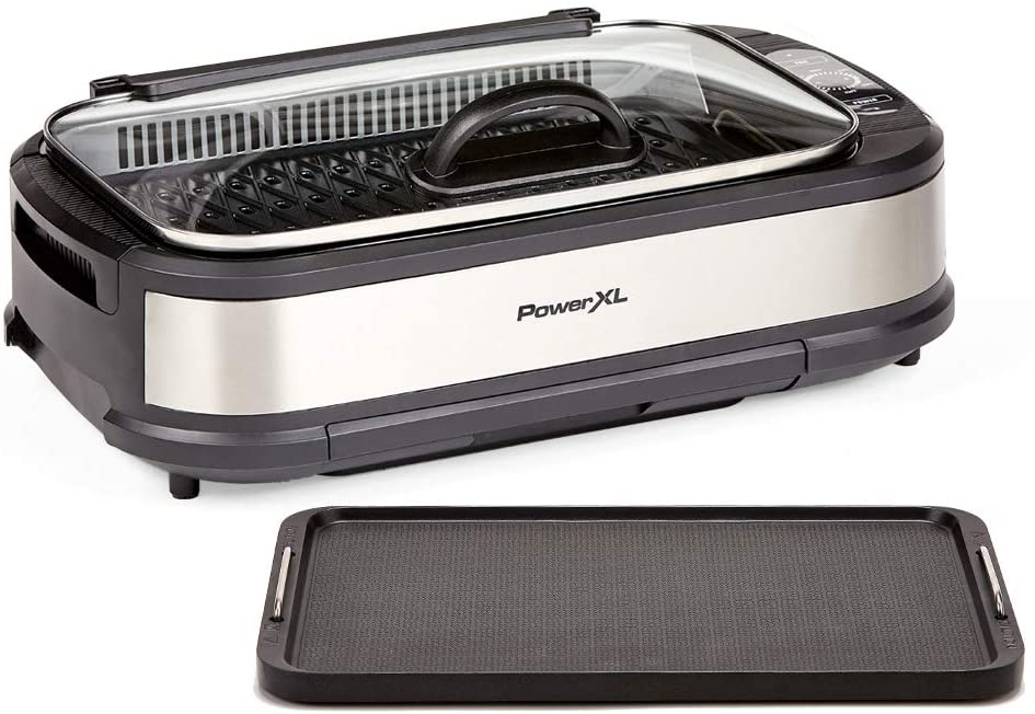 PowerXL Smokeless Grill With Tempered Glass Lid. Best New Small Kitchen Appliances — Reviewing Indoor Grills