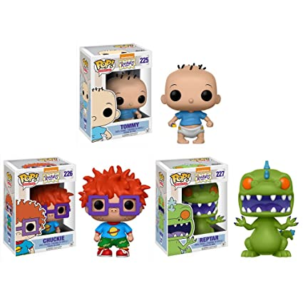 Pop! Television: Rugrats Nickelodeon Chuckie, Tommy, Reptar Vinyl Figures  Set of 3
